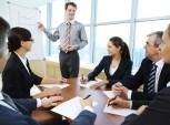 reunião de trabalho entre executivos