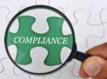 palavra compliance aumentada com uma lupa
