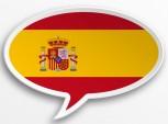 bandeira da Espanha em forma de balão de diálogo