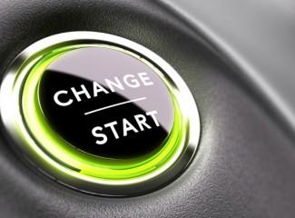 botão escrito change start