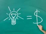 ilustração da equação ideia é igual a dinheiro