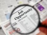 lupa mostrando oportunidade de emprego no jornal
