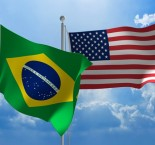 bandeiras do Brasil e EUA