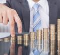 montante crescente de moedas