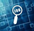 ilustração de lupa procurando emprego