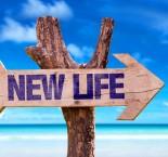 placa escrita vida nova