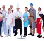 diferentes profissões