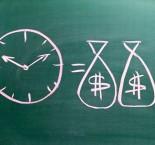 ilustração de tempo é dinheiro