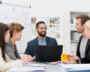 reunião de funcionários
