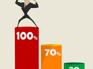 ilustração de um homem mostrando força e sucesso