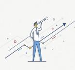 desenho de homem olhando binóculo