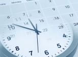 relógio e calendário