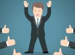 ilustração de um profissional recebendo sinais de positivo