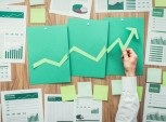 gráfico de empresa bem-sucedida